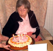 Birthdays are always a special cause for celebration and residents always receive a cake for their special day.