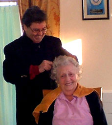 Hairdressing service at Pinewood residential home