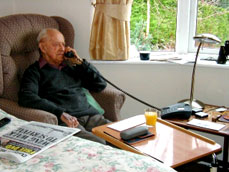 Telephone services in each room at  Pinewood residential home
