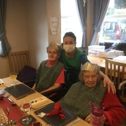 Christmas Lunch at Pinewood Residential Home Budleigh Exmouth