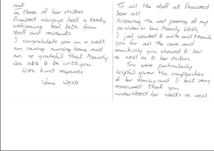 Thank You Letter To Staff from www.pinewoodonline.co.uk